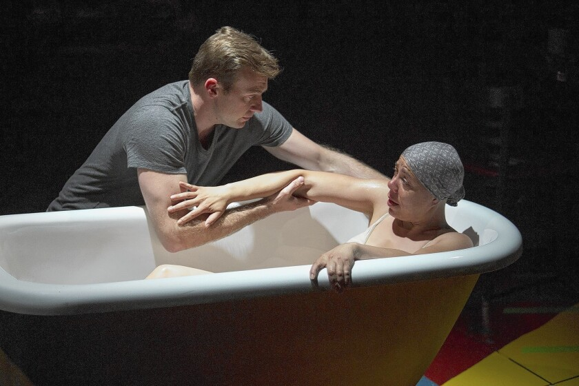 """""""Water by the Spoonful,"""" winner of the 2012 Pulitzer Prize for drama, is presented by the Old Globe. The cast includes Robert Eli and Marilyn Torres."""