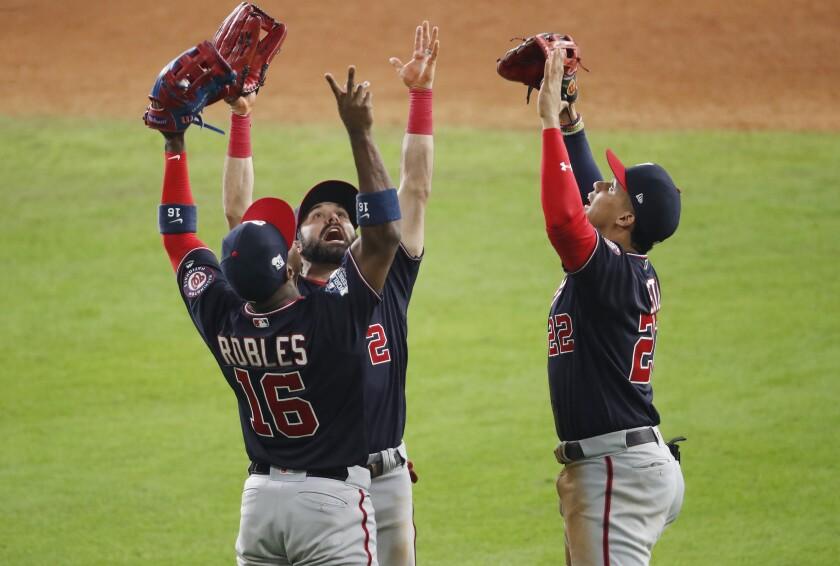 BESTPIX - World Series - Washington Nationals v Houston Astros - Game One