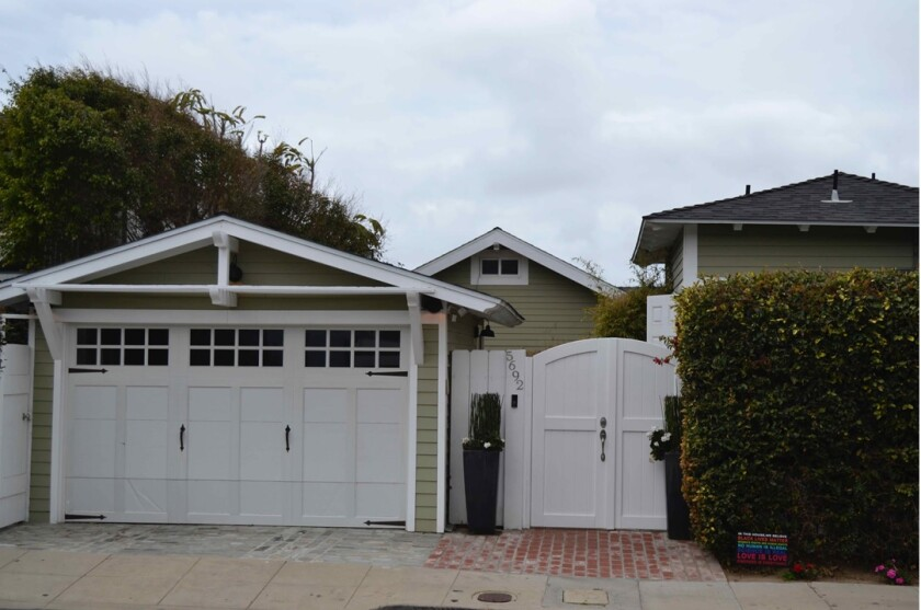 La Jolla's Development Permit Review Committee approved plans to add to this property at 5692 Dolphin Place.