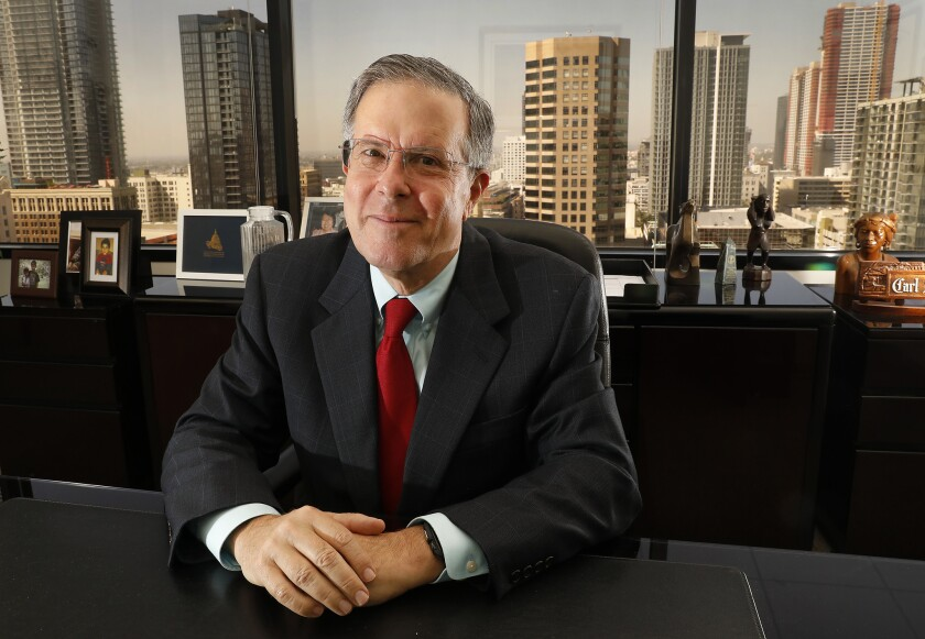 LOS ANGELES, CA – JULY 24, 2018: Attorney Carl Shusterman in his Los Angeles office July 24, 2018.