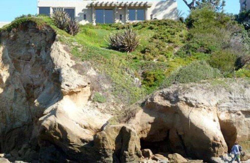 The Kretowicz home seen from Princess Street beach. Photo: Tim Lucas