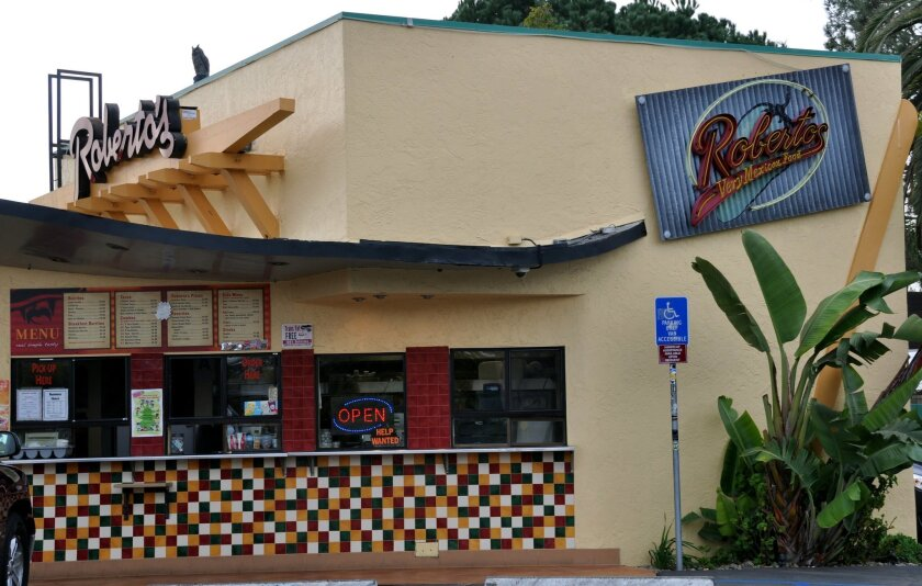 The Roberto's in Solana Beach is part of the eight-restaurant chain that new COO George Hunter hopes to expand.
