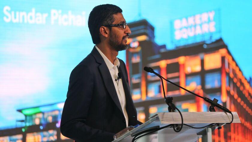 Google CEO Sundar Pichai announces a new initiative in Pittsburgh, Pa. on Oct. 12.