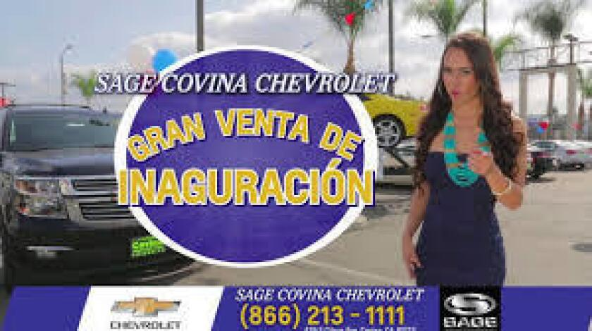 TV ad for Sage Covina Chevrolet