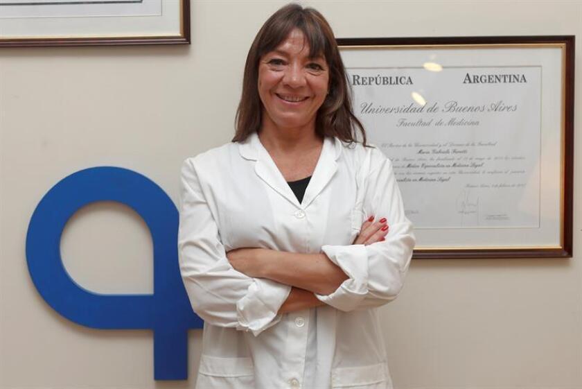 La doctora Gabriela Ferretti posa durante una entrevista con Efe en Buenos Aires (Argentina).EFE
