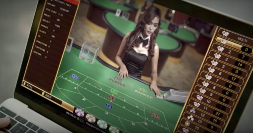 Many of the sites targeting gamblers in China feature livestreams from Manila of baccarat tables rep