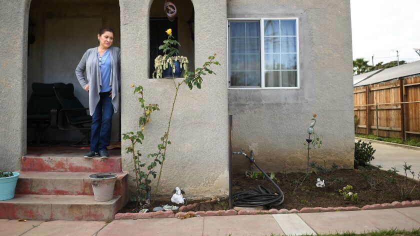 LOS ANGELES, CALIFORNIA MARCH 14, 2018-Home owner Herlinda Savarino talks about the lead contaminati