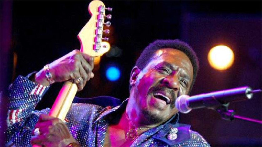 Ike Turner performing during the 'Ike Turner and The Kings of Rhythm' concert in Montreux, Switzerland.