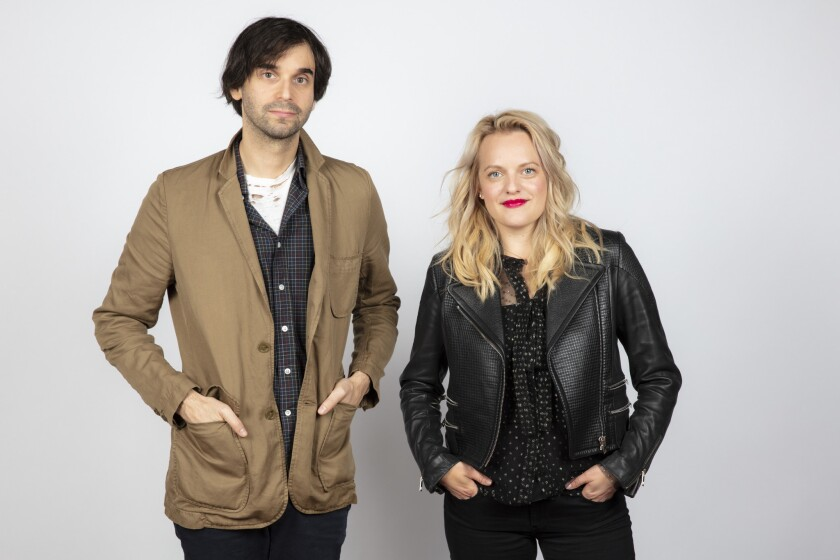 """Director Alex Ross Berry and actress Elizabeth Moss of """"Her Smell."""""""
