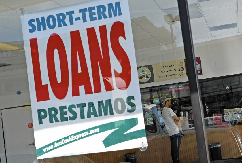 Ace Cash Express, one of the country's largest payday lenders, has branches throughout Southern California.