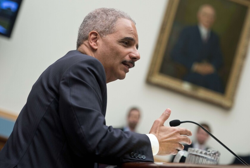 Atty. Gen. Eric H. Holder Jr. testifies before the House Judiciary Committee.