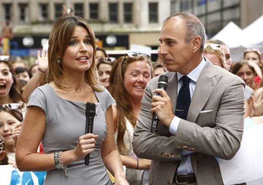 """Fixing NBC's """"Today"""" show will be a top priority for Deborah Turness, the new head of NBC News. Above, hosts Savannah Guthrie and Matt Lauer)"""
