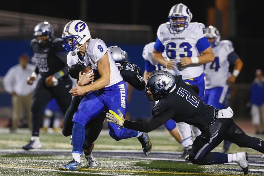 Grossmont quarterback Jaime Odom — a 6-foot-2, 205-pound senior — passed<QL> for 2,174 yards and 21 TDs last season in the Foothillers' fast-paced offense.