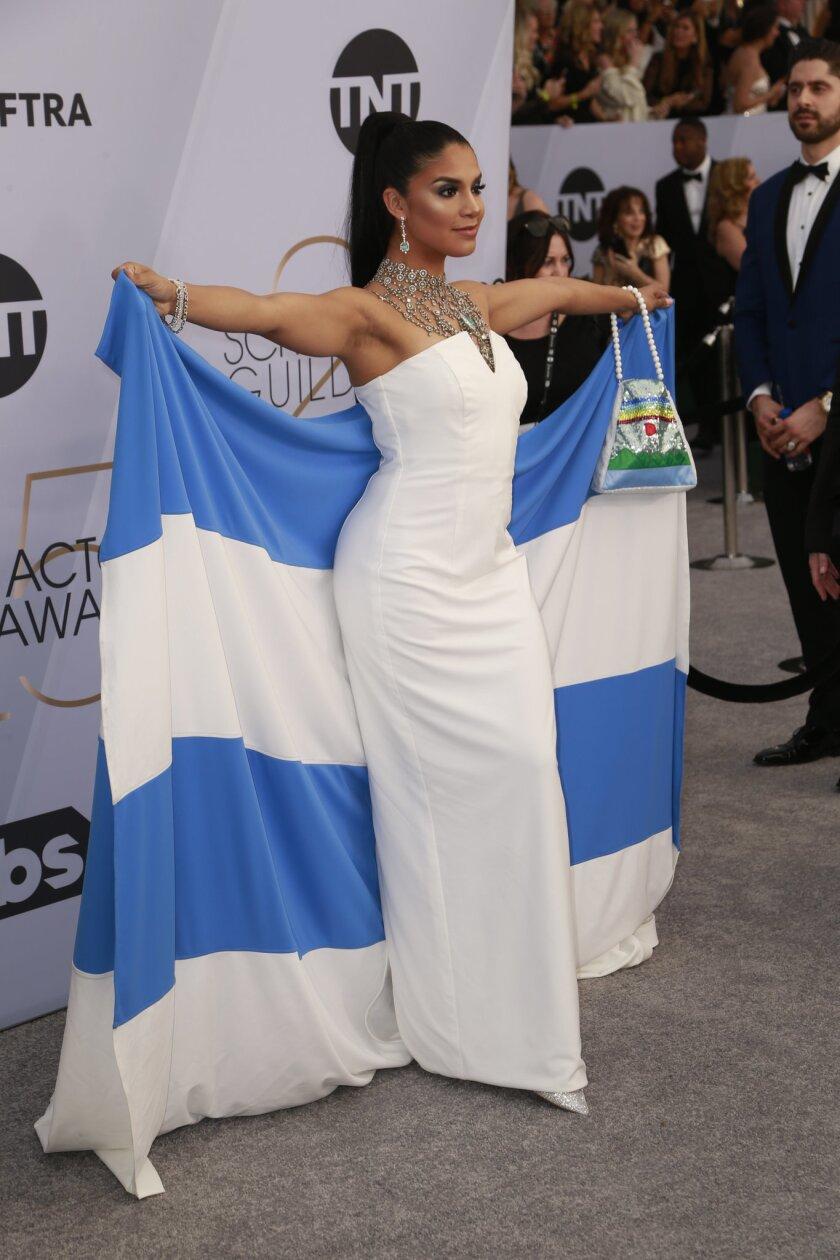 Shakira Barrera arrives at the 2019 Screen Actors Guild Awards.