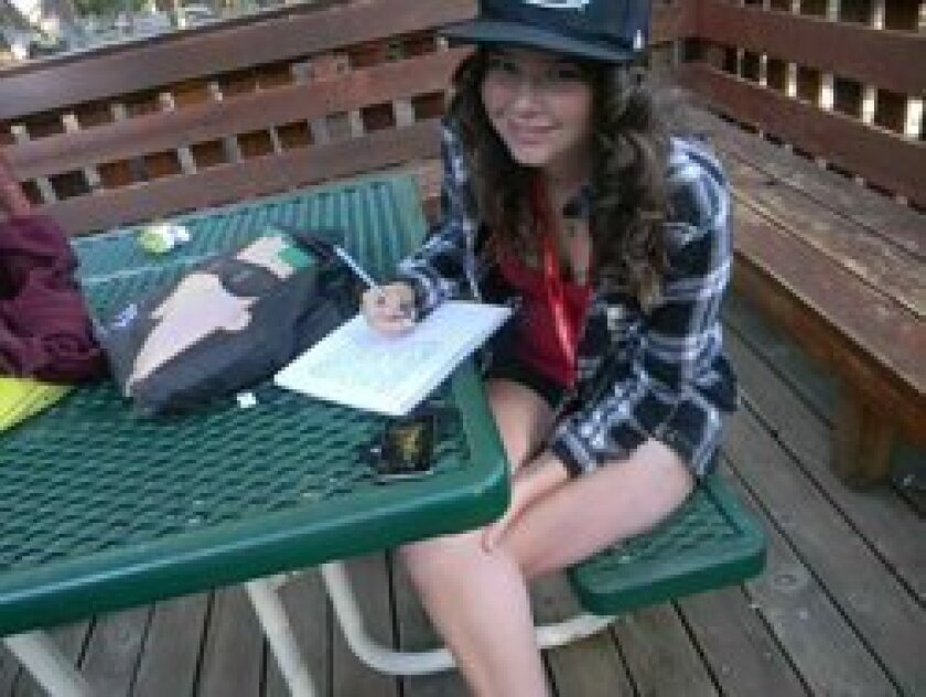 Mackenzie also won a writing contest this summer.