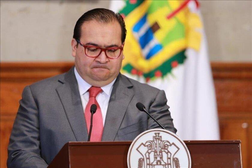 El gobernador del estado mexicano de Veracruz Javier Duarte, durante una rueda de prensa en Xalapa (México). EFE/Archivo