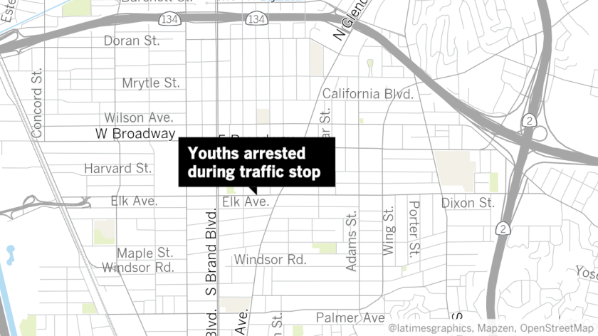 4 teens arrested on suspicion of burglary in Glendale - Los Angeles