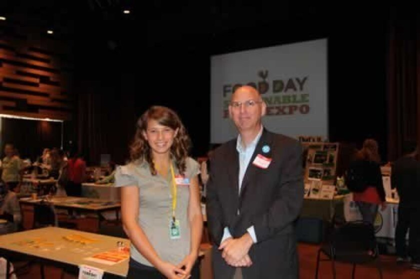 Food Day Expo organizers Jessica Baltmanas and Hugh Hagues. Ashley Mackin
