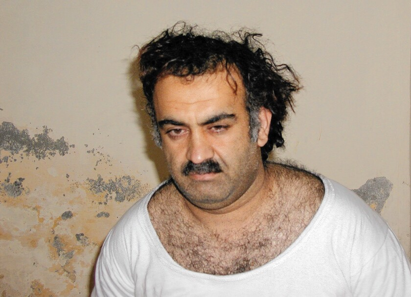 Khalid Shaikh Mohammed, the self-proclaimed mastermind of the 2001 terrorist attacks, pictured in 2003 after his capture in Pakistan.