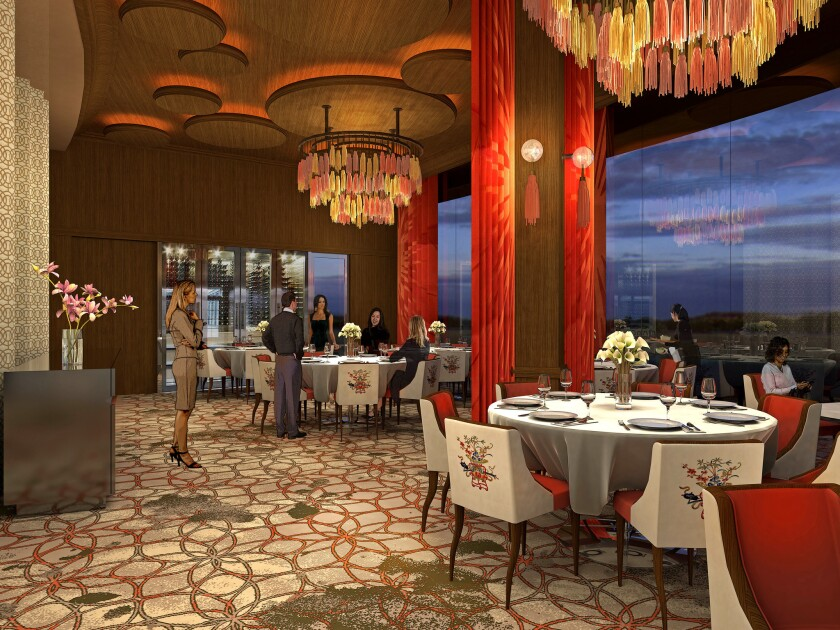 An artist's rendering of the Phoenix, the hotel's fine-dining restaurant.