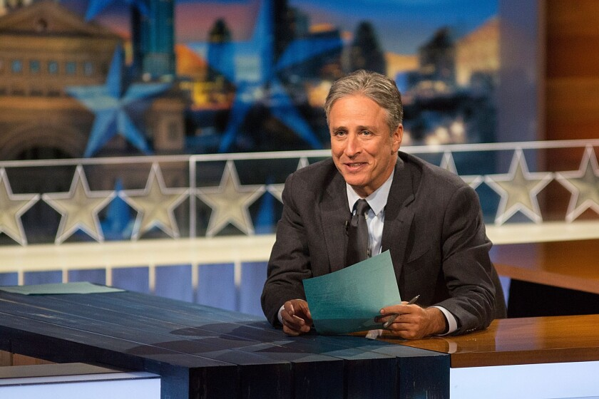 """""""I'm going to have dinner on a school night with my family,"""" Jon Stewart said of his plans for life after """"The Daily Show."""""""