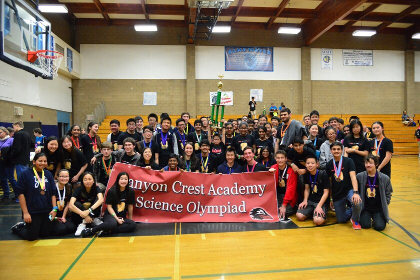 CCA Science Olympiad participants and finalists.