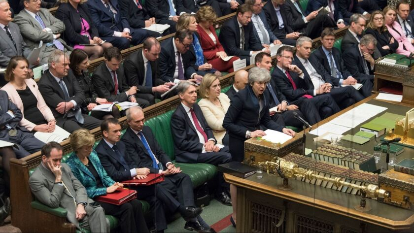 MPs reject EU withdrawal deal for third time, London, United Kingdom - 03 Apr 2019