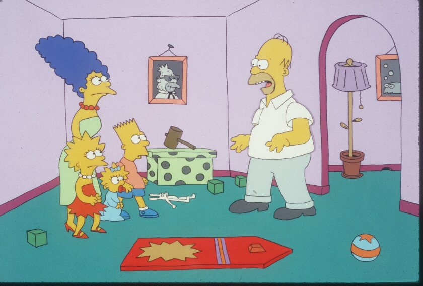 "Things were not always perfect in the cartoon household of ""The Simpsons."""