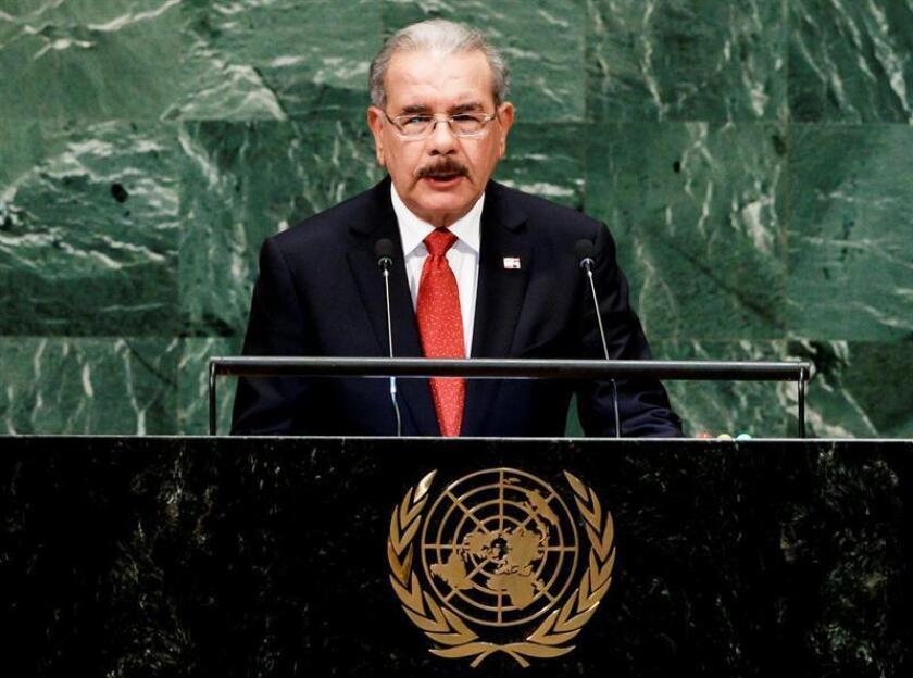 """El presidente dominicano, Danilo Medina, prometió hoy que cuando República Dominicana asuma en enero su puesto como miembro no permanente del Consejo de Seguridad de la ONU, tratará de aportar una """"voz latinoamericana y caribeña"""" a ese órgano internacional. EFE/ARCHIVO"""