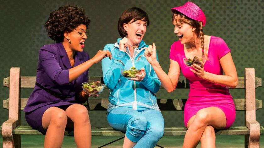 """A scene from """"Women Laughing Alone With Salad"""" at the Kirk Douglas Theatre in April."""