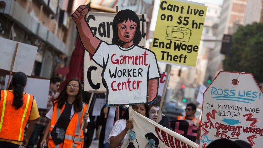 Garment worker protest