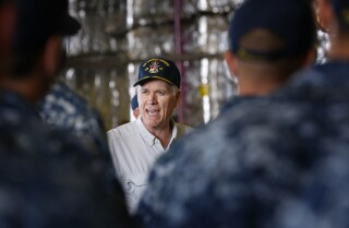 Navy secretary tours San Diego, pledges to fix destroyer crash problems