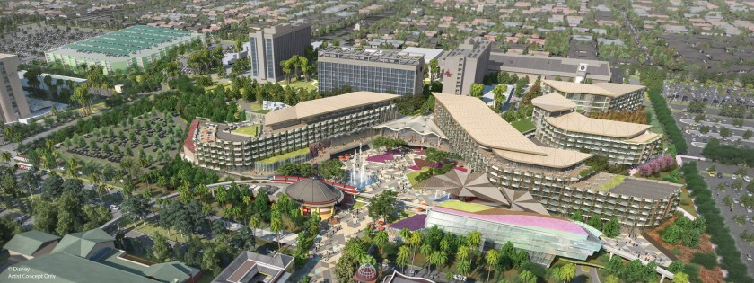 A hotel that was to be built with the help of a tax break from the city of Anaheim is on hold because the city says the project no longer qualifies for the subsidy.