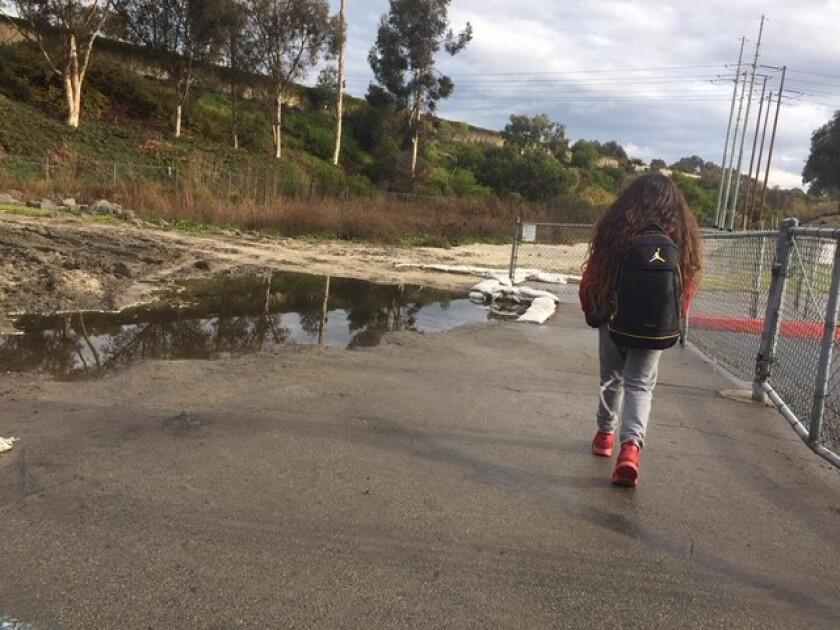 San Luis Rey Elementary flooding