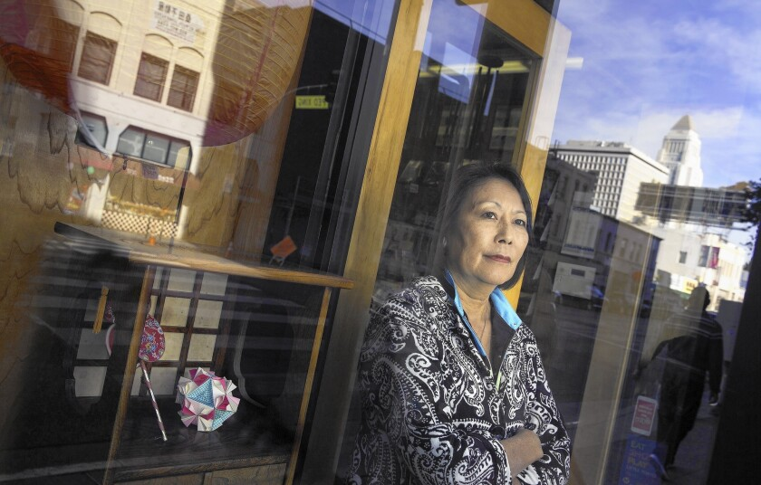 Little Tokyo gift shop owner Irene Tsukada Simonian is one of the merchants who rely on December as one of their most important sales periods.