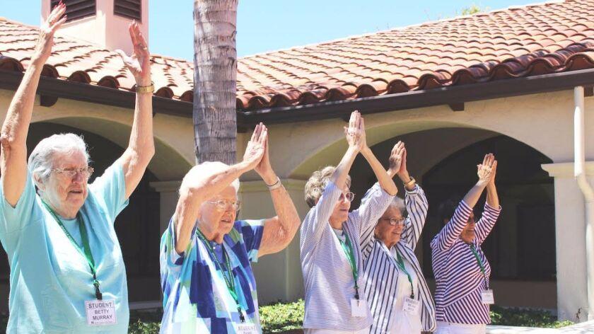 Seniors participate in a Live + Breathe community outreach session