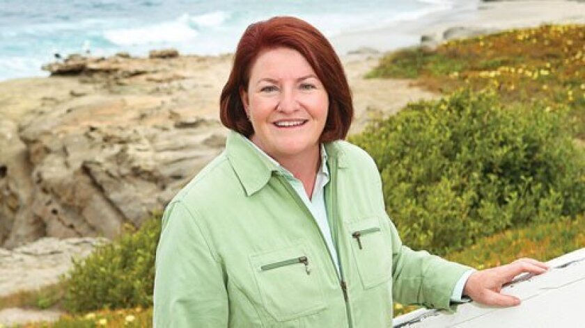 State Assemblymember Toni Atkins (D-78) poses during a visit to WindanSea beach in La Jolla. Atkins represents San Diego County's coastal communities, from Imperial Beach north to Del Mar, including La Jolla. Courtesy Photo