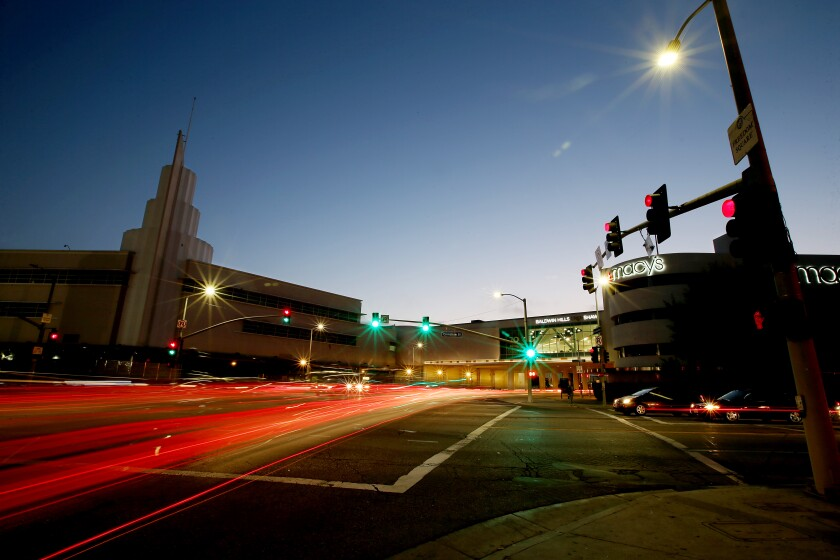 The intersection of Martin Luther King Jr. and Crenshaw boulevards