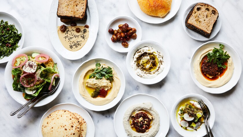 A selection of small plates from Bavel, Bestia chef Ori Menashe's new downtown L.A. restaurant.