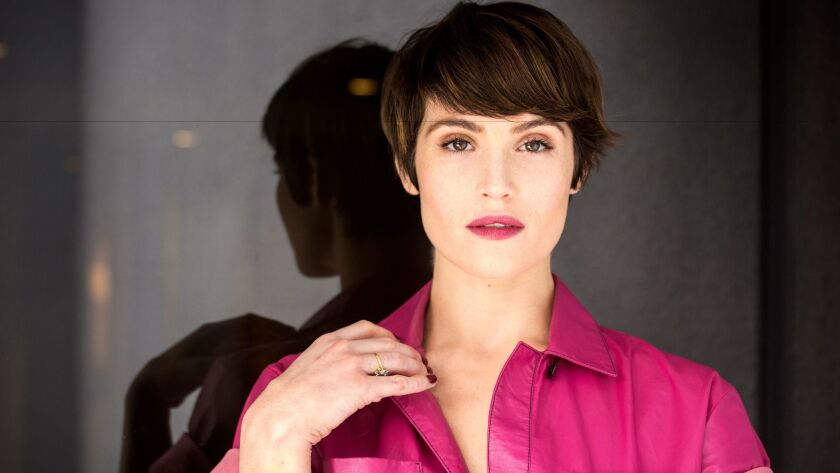 """Actress Gemma Arterton, currently starring in """"Their Finest,"""" photographed at the London West Hollywood hotel last month."""