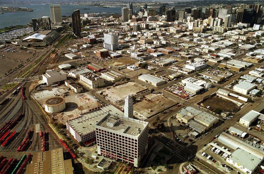 November 14, 1997 -- Aerial view of downtown San Diego before the Petco Park. Photo: John Gastaldo/U-T San Diego file photo