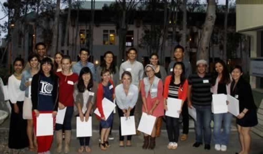 A few of the 57 UCsD International Center students who received scholarships. Courtesy