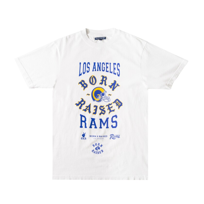The collaboration between Born X Raised and the L.A. Rams included this T-shirt.