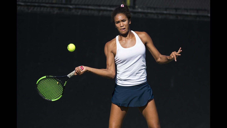 Photo Gallery: Corona del Mar girls' tennis vs. University
