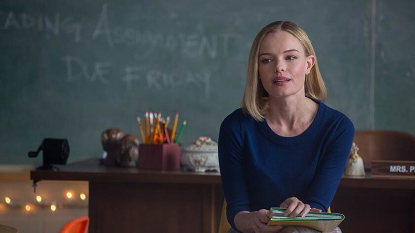 """Eva Piper (Kate Bosworth) is in her classroom when she learns of her husband's accident in """"90 Minutes in Heaven."""""""