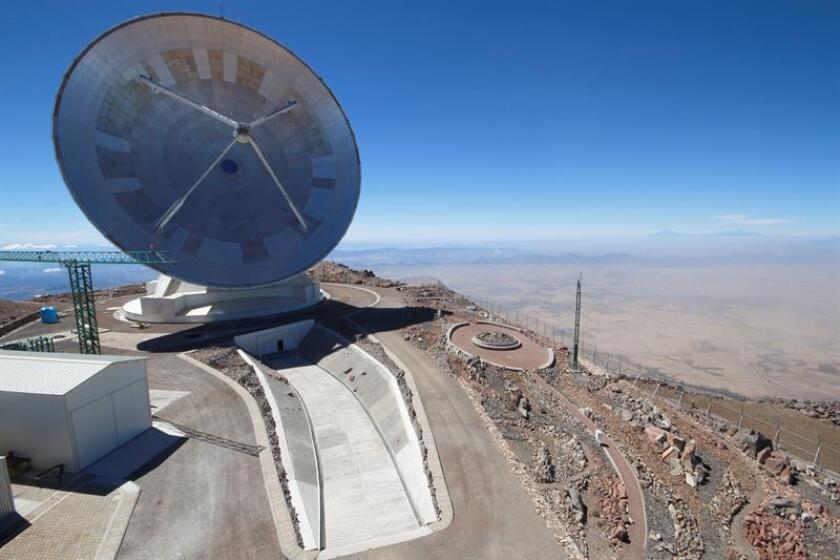 Fotografía fechada el 16 de febrero de 2018, del Gran Telescopio Milimétrico Alfonso Serrano (GTM), ubicado en el municipio de Atzitzintla en Puebla (México). EFE