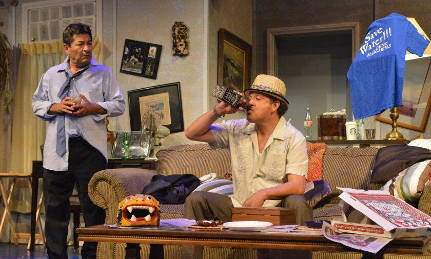 """Mike Gomez (left) and Paul Rodriguez in """"The Odd Couple."""""""