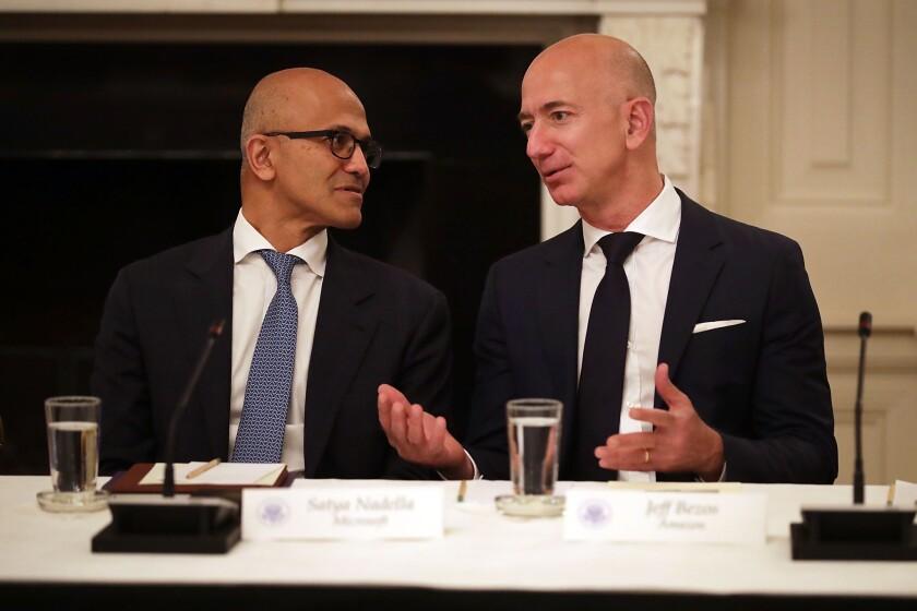 Nadella and Bezos