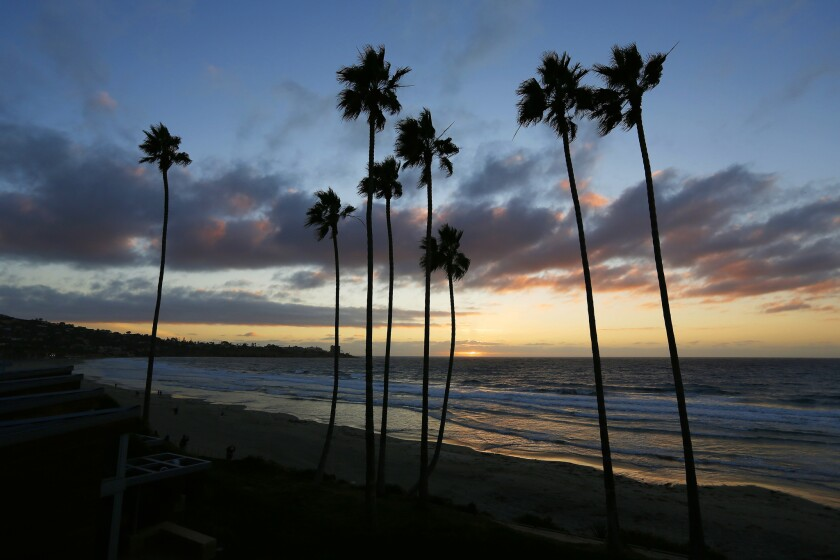 The sun sets on a balmy evening in La Jolla.