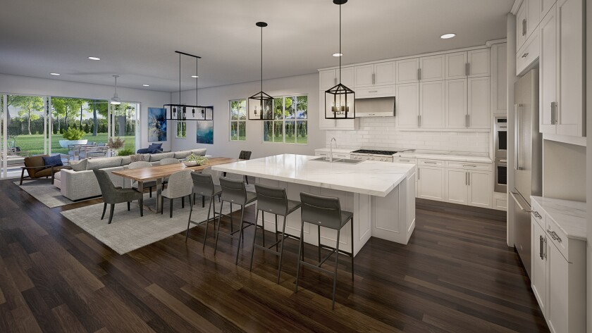 Floor plans at Carriage Hill designed for families to spend time together and have private space.